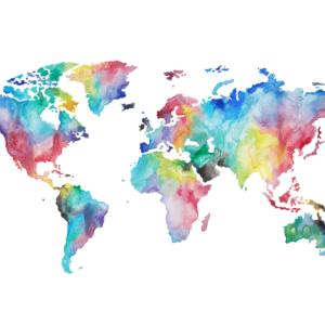 Mapa de mundo de colores